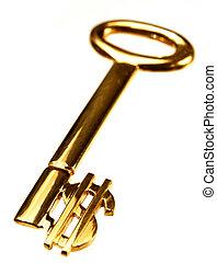 dollár, gold kulcs