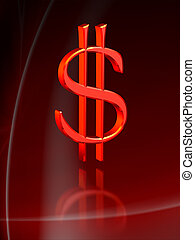 dollár, piros