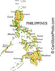 domborzati térkép, fülöp-szigetek
