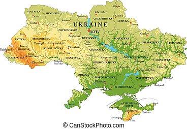 domborzati térkép, ukrajna