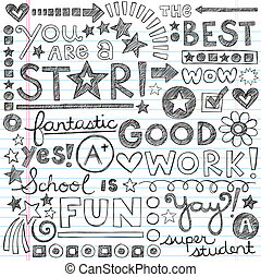 doodles, nagy, munka, izbogis, dicsér