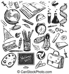 doodles, skicc, izbogis, háttér, hát