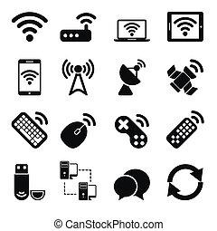 drótnélküli távíró, állhatatos, berendezés, ikonok