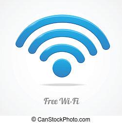 drótnélküli távíró, wifi, hálózat, jelkép., ikon