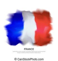 drawing., francia, hazafias, tervezés, franciaország, ünneplés, elvont, háttér., vektor, fehér, elszigetelt, transzparens, grafikus, design., motívum, háttér, vízfestmény, lobogó, template.