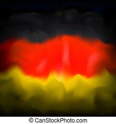 drawing., háttér, hazafias, elvont, német, háttér., vízfestmény, lobogó, design., transzparens, grafikus, kreatív, template., németország, vektor, tervezés