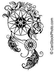 dreamcatcher, tetovál