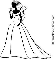 dress., menyasszony, gyönyörű