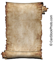 durva, kézirat, tekercs, pergament