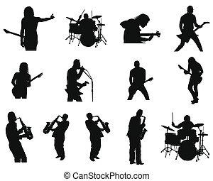 dzsessz, állhatatos, körvonal, kő