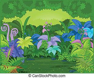 dzsungel, táj