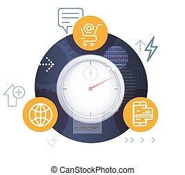 e-commerce, ábra, kialakulás, részvény, globális