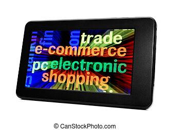 e-commerce, elektronikus, tabletta pc