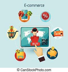 e-commerce, fogalom, ábra