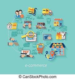 e-commerce, fogalom, bevásárlás