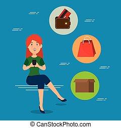 e-commerce, fogalom, bevásárlás online