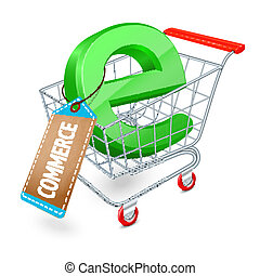 e-commerce, fogalom, bevásárlókocsi