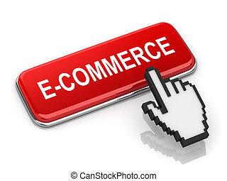 e-commerce, gombol, piros