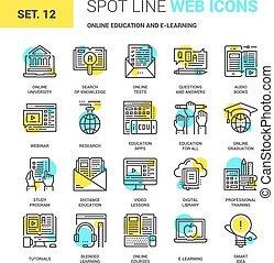 e-learning, oktatás, online