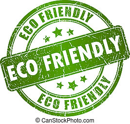 eco, bélyeg, vektor, barátságos