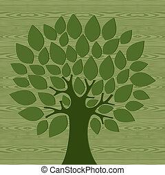 eco, barátságos, fogalom, fa