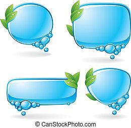 eco, beszéd, állhatatos, buborék