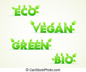 eco, bio, elnevezés, zöld