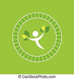 eco, ember, jelkép, zöld