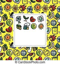 eco, karikatúra, kártya