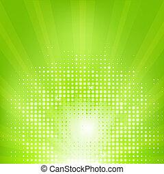 eco, rövid napsütés, zöld háttér