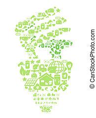 eco, világoszöld, gumó