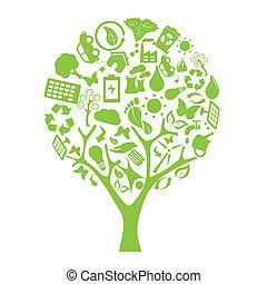 eco, zöld fa
