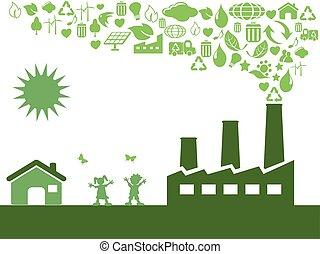 eco, zöld, gyár