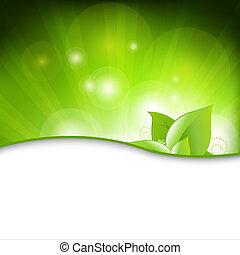 eco, zöld háttér, őt lap
