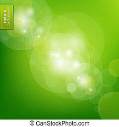 eco, zöld háttér, elhomályosít