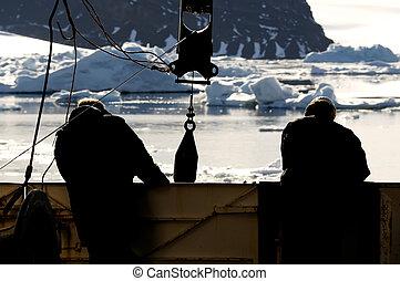 edény, munkás, antarktisz