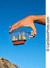 edény, szüret, vitorláshajó