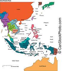 editable, országok, címek, ázsia, délkeleti