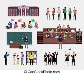 education., állhatatos, diák