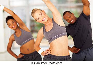 edző, személyes, afrikaiak, két, gyakorlás