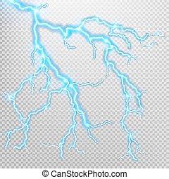 effect., 10, világítás, elektromos, eps