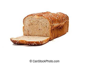 egész, cipó, gabona, fehér kenyér
