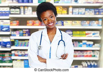 egészségügyi ellátás, egészség, woman., orvos