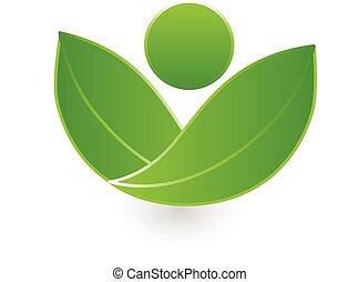 egészség, őt lap, jel, zöld, természet