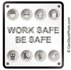 egészség, biztonság, aláír