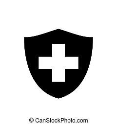 egészség, oltalom, tervezés, ábra, ikon