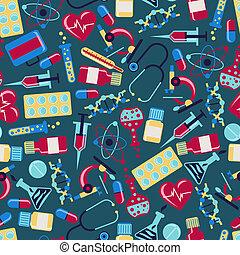 egészség, orvosi, pattern., seamless, törődik