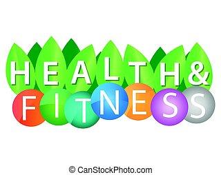egészség, színes, állóképesség