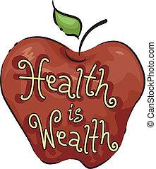 egészség, vagyon