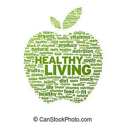 egészséges élénk, alma, ábra